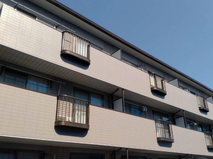各務原市 アパート 屋根塗装、外壁塗装工事