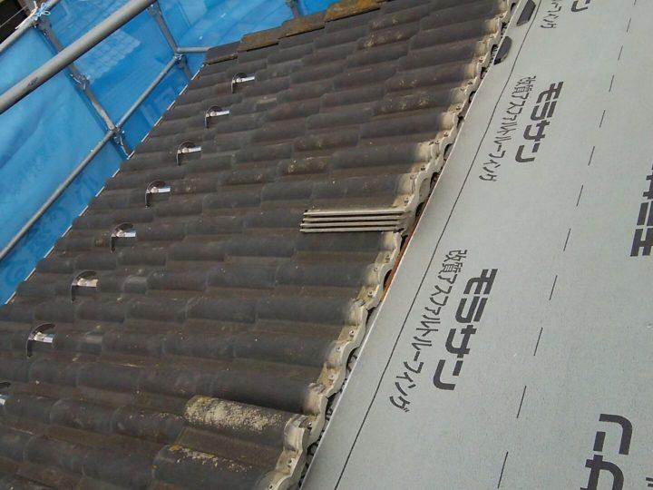 屋根の浮き部修復