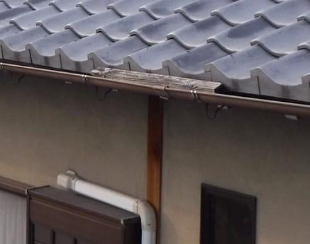 木材が雨樋