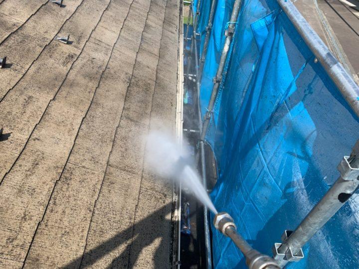 屋根バイオ洗浄、高圧洗浄