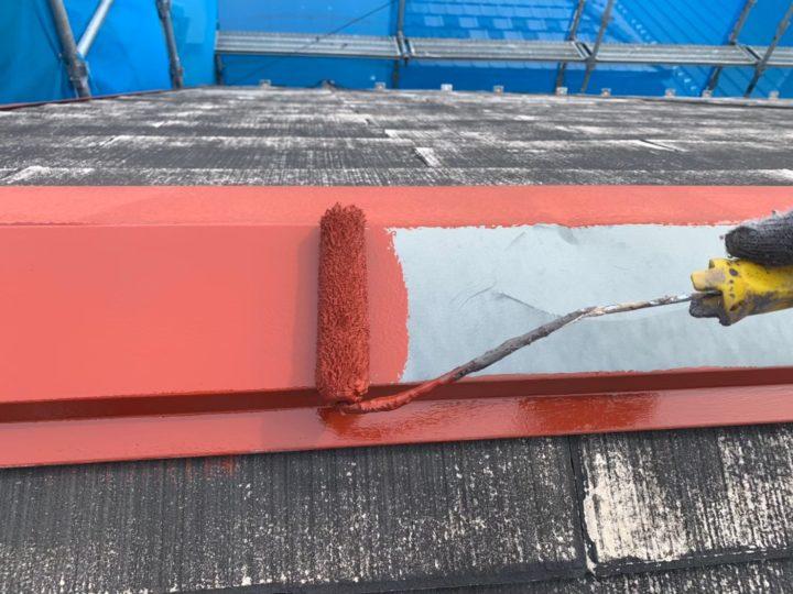 屋根・鉄部の錆止め塗装