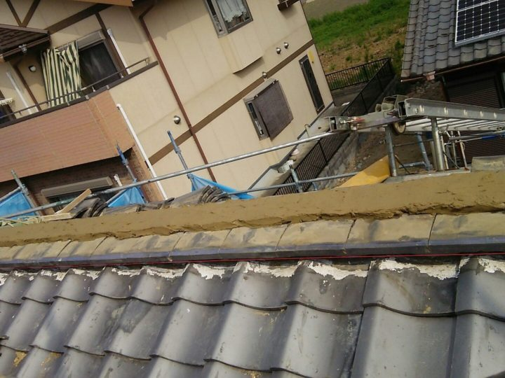 漆喰工事/土盛り作業
