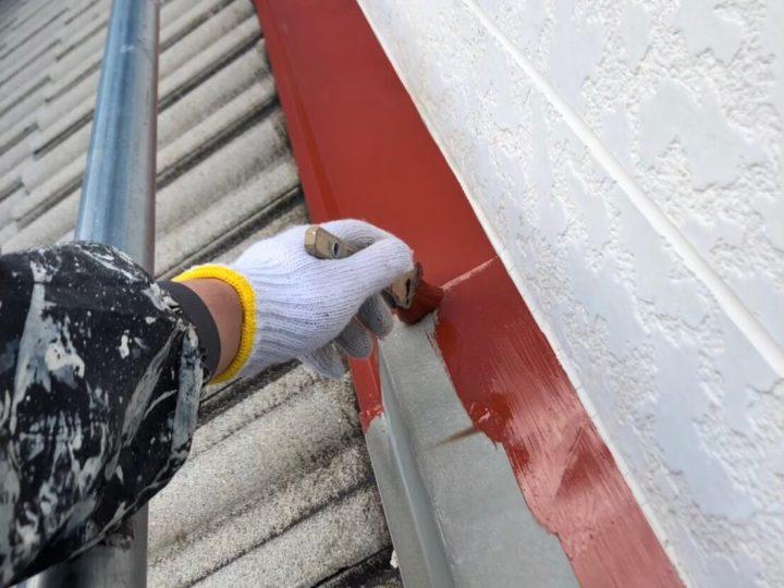 鉄部の錆止め塗装