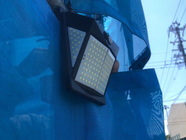 防犯ライト設置