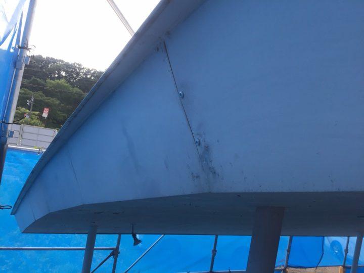 破風修繕作業