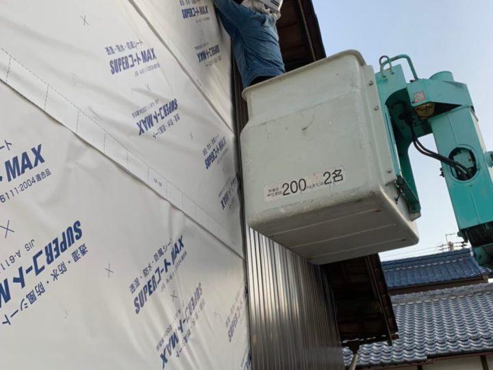 ガルバリウム鋼板新設