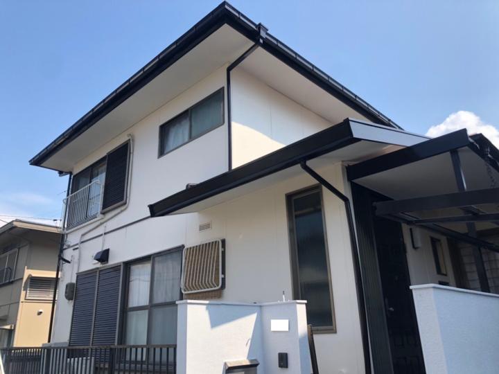 岐阜市O様 台風で屋根材が飛んでしまった!!火災保険の申請をしてもらいました。補修と一緒に屋根塗装と外壁塗装もしてもらいました!