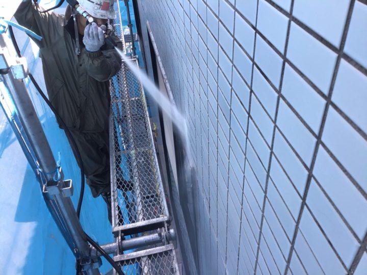 雨漏り箇所散水テスト