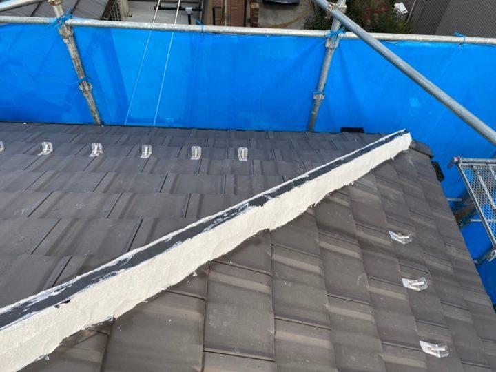 垂木交換、漆喰補修
