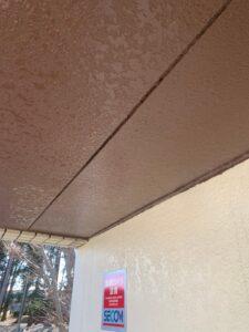 各務原市N様 長年の雨漏りで軒天井が変形してしまったため、部分的な補修を行いました!
