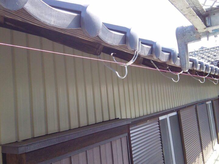樋金具の設置