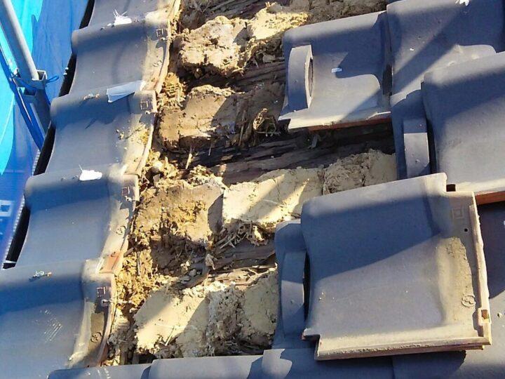 被害箇所の修正及び下地調整