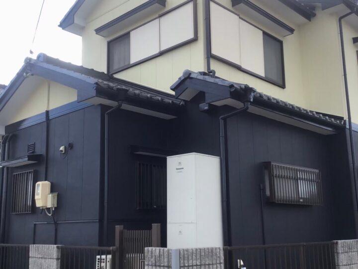 各務原市H様 台風の被害にあった屋根を直すつもりでしたが、以前から少し気になっていた外壁塗装も併せてやってもらう事にしました。