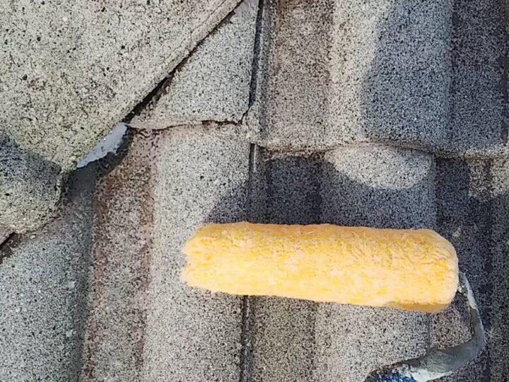 屋根下塗り②