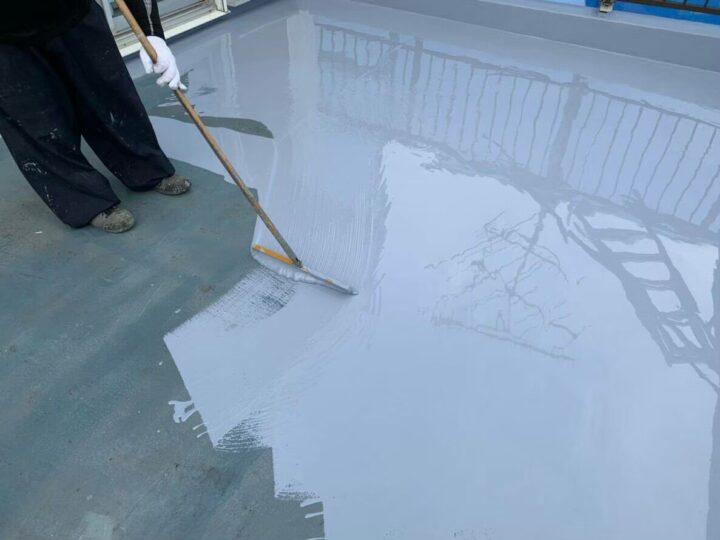 屋上防水(ウレタン防水2層目)