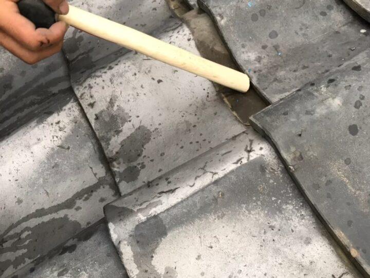 屋根瓦戻し・調整