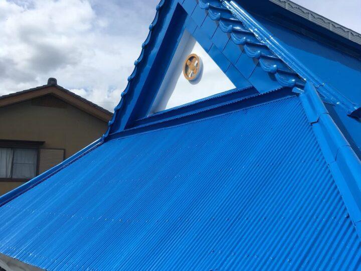 各務原市F様 台風で屋根のトタンがとんでいってしまい、すぐに改修工事してくれる会社を探しました。