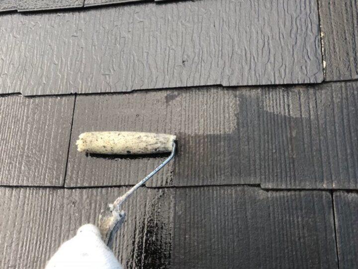 屋根下塗り①