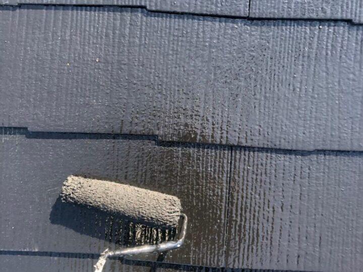 屋根上塗り②