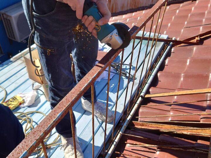 屋根上のベランダ撤去