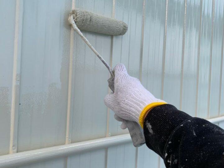 外壁上塗り1回目(トタン)