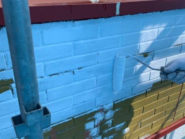 外壁上塗り1回目塗り(サイディング)