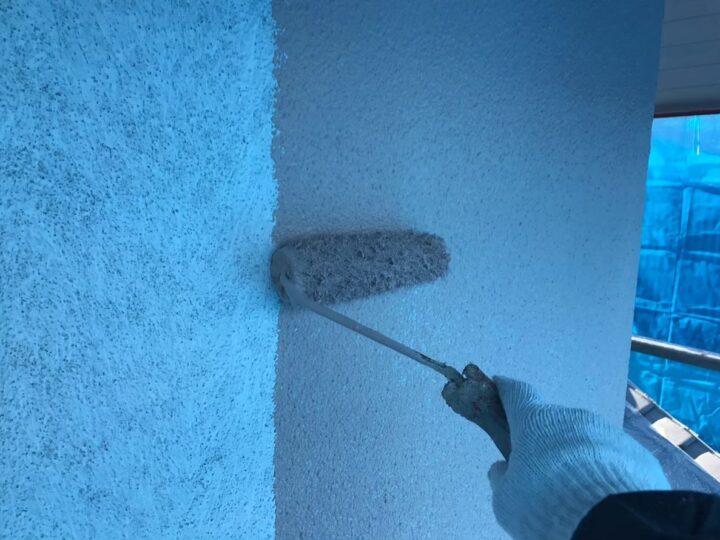 外壁上塗り①
