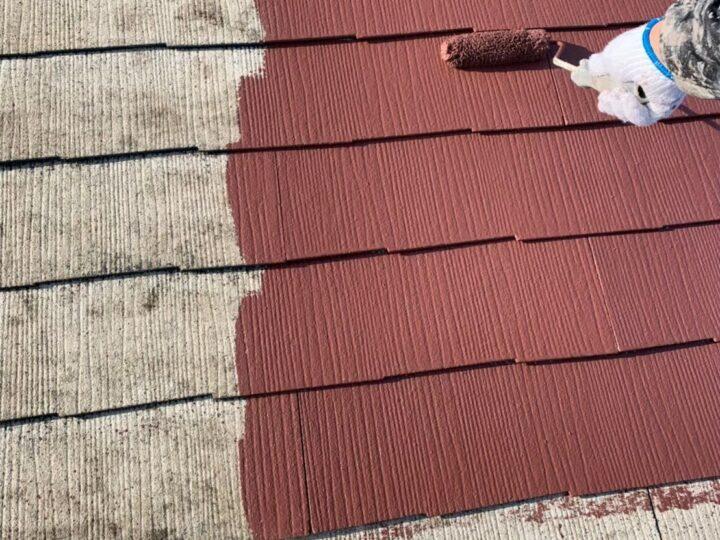 屋根上塗り①