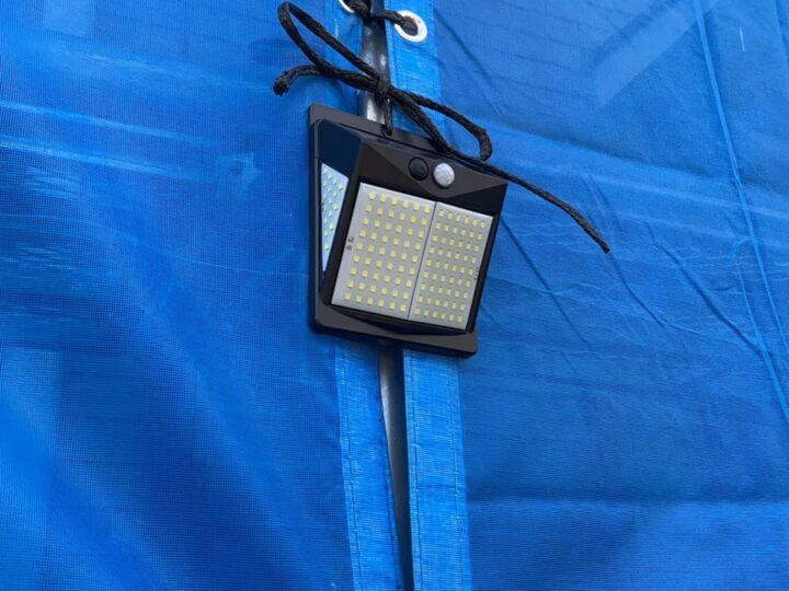 防犯用LEDライト設置