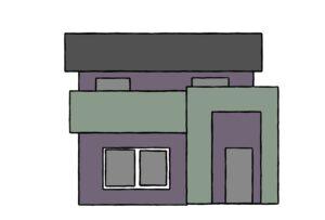 補色の家(調整後)