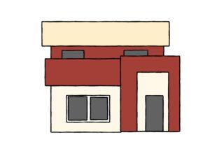 赤主体の家