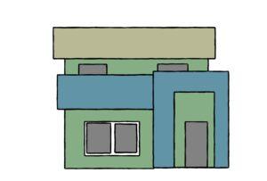 近似色の家