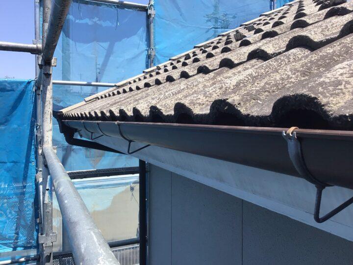 大屋根北面の軒樋交換