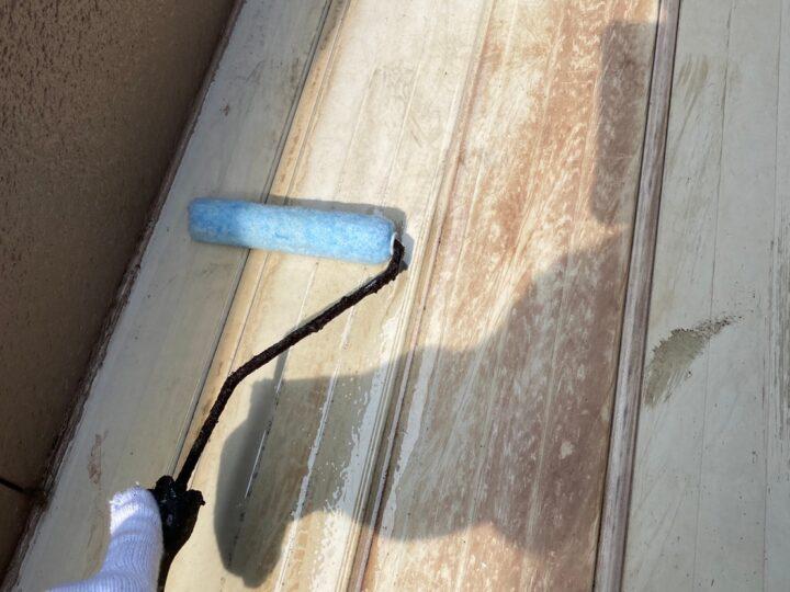 ベランダ床塗装 下塗り