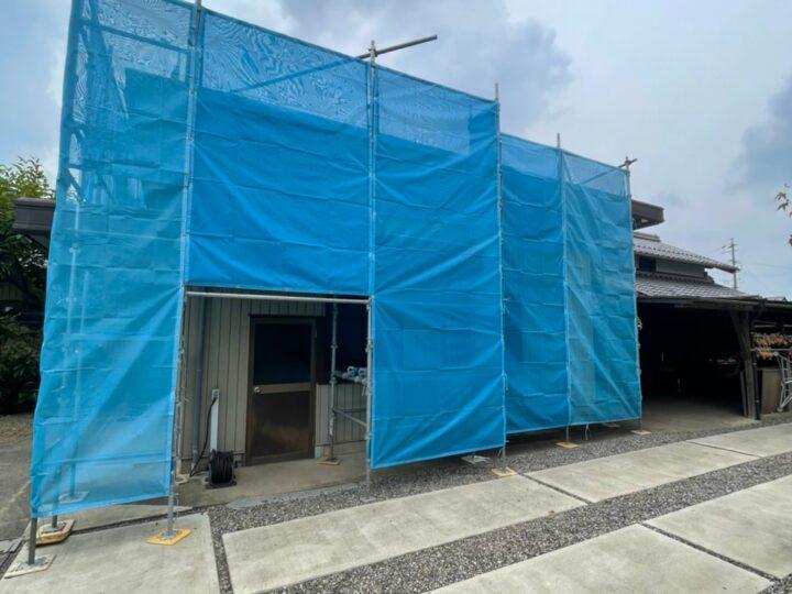 各務原市M様邸 屋根及び外壁塗装工事着工致しました✨以前お願いした時に工事しなかった部分をそろそろ工事したいと思い、お問い合わせしました。