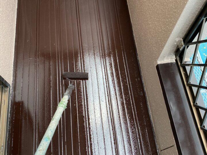 ベランダ床塗装  上塗り2回目