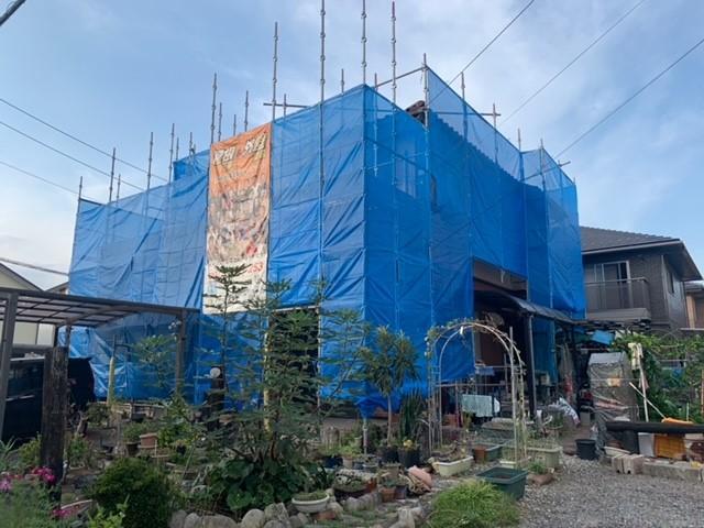 関市H様邸 外壁塗装及びベランダ防水工事着工致しました✨